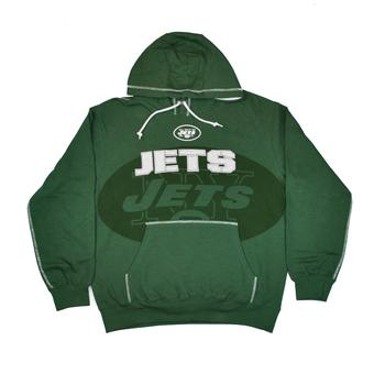 New York Jets Majestic Green Seam Pass Pullover Hooded Sweatshirt (Adult M)