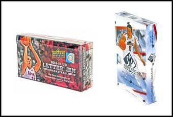 COMBO DEAL - 2014/15 Upper Deck Basketball Hobby Boxes (Lettermen, SP Authentic)