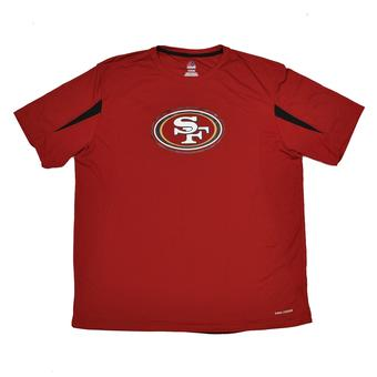 San Francisco 49ers Majestic Red Fanfare VII Performance Synthetic Tee Shirt (Adult XL)
