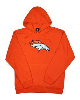Denver Broncos Majestic Orange Telepatch Fleece Hoodie (Adult S)
