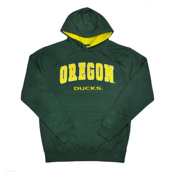 Oregon Ducks Colosseum Green Zone Pullover Fleece Hoodie (Adult XXL)