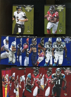2014 Totally Certified Football 31 Parallel cards LOT Flacco Lacy Barry Sanders Many More