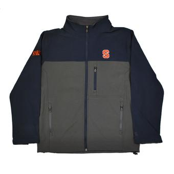 Syracuse Orange Colosseum Navy & Gray Yukon II Softshell Full Zip Jacket (Adult XXL)