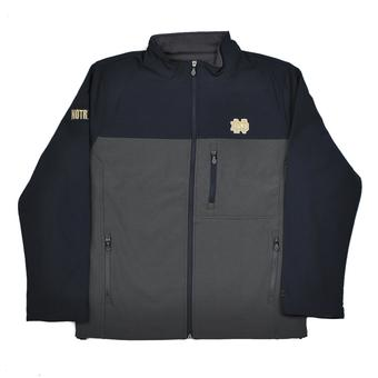 Notre Dame Fighting Irish Colosseum Navy & Grey Yukon II Softshell Full Zip Jacket (Adult M)