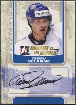 2011/12 ITG Canada vs The World #ATS Teemu Selanne Auto
