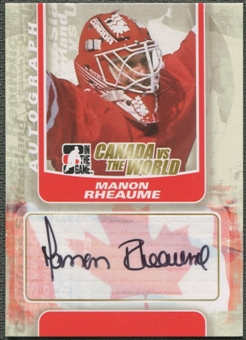 2011/12 ITG Canada vs The World #AMR Manon Rheaume Auto