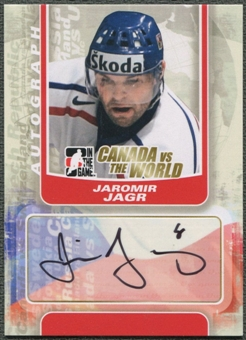 2011/12 ITG Canada vs The World #AJJ Jaromir Jagr Auto