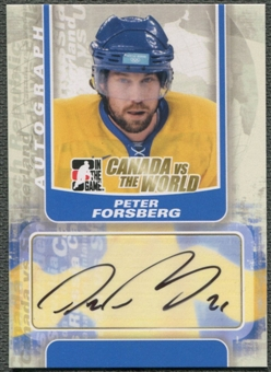 2011/12 ITG Canada vs The World #APF Peter Forsberg Auto