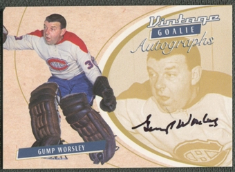 2002/03 Between the Pipes Goalie #31 Gump Worsley Auto /40