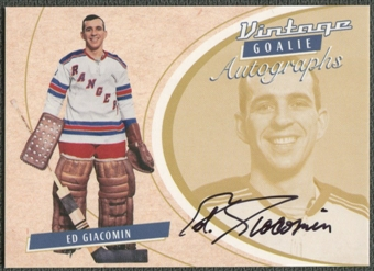 2002/03 Between the Pipes Goalie #28 Ed Giacomin Auto /90
