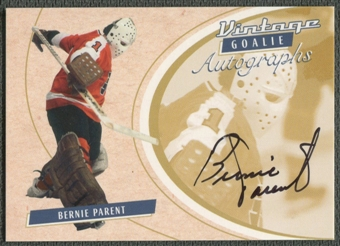 2002/03 Between the Pipes Goalie #27 Bernie Parent Auto /90