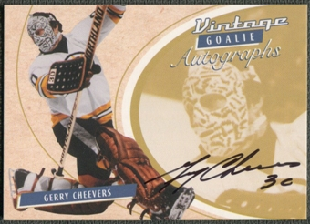 2002/03 Between the Pipes Goalie #29 Gerry Cheevers Auto /90