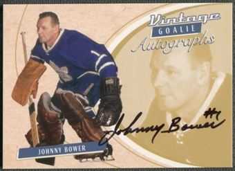 2002/03 Between the Pipes Goalie #26 Johnny Bower Auto /90