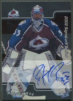2001/02 BAP Signature Series #XLPR Patrick Roy Auto SP