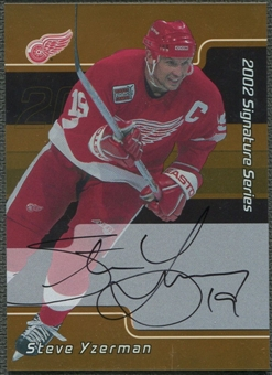 2001/02 BAP Signature Series #LSY Steve Yzerman Gold Auto SP
