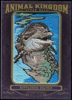 2012 Upper Deck Goodwin Champions Animal Kingdom Patches #AK103 Bottle Nose Dolphin LC