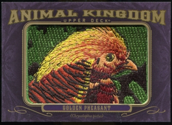 2012 Upper Deck Goodwin Champions Animal Kingdom Patches #AK105 Golden Pheasant LC
