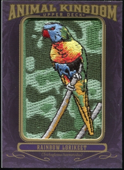 2012 Upper Deck Goodwin Champions Animal Kingdom Patches #AK106 Rainbow Lorikeet LC