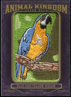 2012 Upper Deck Goodwin Champions Animal Kingdom Patches #AK107 Blue-and-Yellow Macaw LC