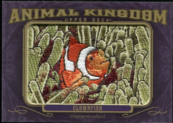 2012 Upper Deck Goodwin Champions Animal Kingdom Patches #AK108 Clownfish LC