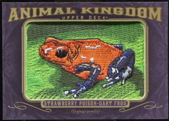 2012 Upper Deck Goodwin Champions Animal Kingdom Patches #AK112 Strawberry Poison Dart Frog LC