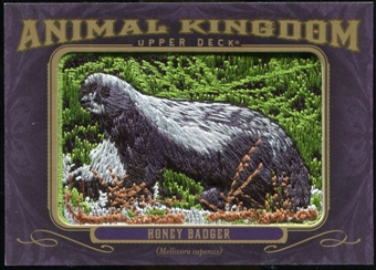 2012 Upper Deck Goodwin Champions Animal Kingdom Patches #AK118 Honey Badger LC