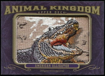 2012 Upper Deck Goodwin Champions Animal Kingdom Patches #AK120 American Alligator LC