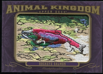 2012 Upper Deck Goodwin Champions Animal Kingdom Patches #AK125 Sockeye Salmon LC