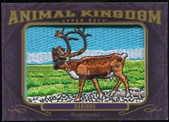 2012 Upper Deck Goodwin Champions Animal Kingdom Patches #AK127 Caribou LC