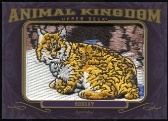 2012 Upper Deck Goodwin Champions Animal Kingdom Patches #AK128 Bobcat LC