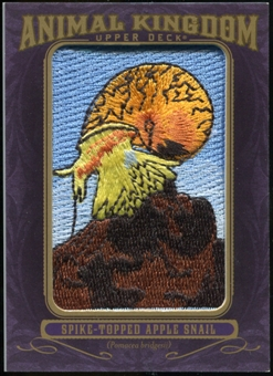 2012 Upper Deck Goodwin Champions Animal Kingdom Patches #AK138 Spike-Topped Apple Snail
