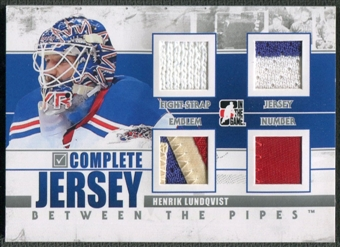 2010/11 Between The Pipes #CJ02 Henrik Lundqvist Complete Jersey Emblem Silver /9