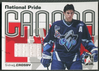 2005/06 ITG Heroes and Prospects #NPR11 Sidney Crosby National Pride Rookie Jersey White /60