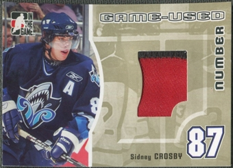 2005/06 ITG Heroes and Prospects #GUN53 Sidney Crosby Rookie Game Used Number Patch Gold /10