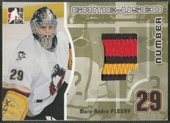 2005/06 ITG Heroes and Prospects #GUN24 Marc-Andre Fleury Game Used Number Patch Gold /10