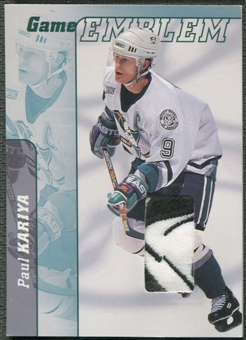 2000/01 BAP Signature Series #E16 Paul Kariya Jersey Emblem Patch /10