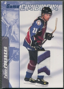 2000/01 BAP Signature Series #E20 Peter Forsberg Jersey Emblem Patch /10