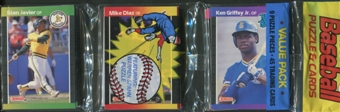 1989 Donruss Baseball Rack Pack (Ken Griffey Jr. On Top)