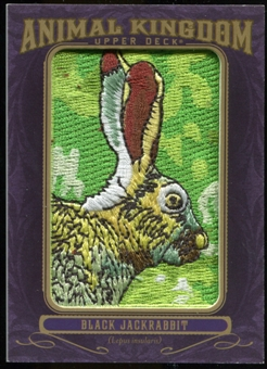 2012 Upper Deck Goodwin Champions Animal Kingdom Patches #AK154 Black Jackrabbit NT