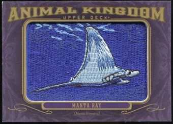 2012 Upper Deck Goodwin Champions Animal Kingdom Patches #AK158 Manta Ray NT
