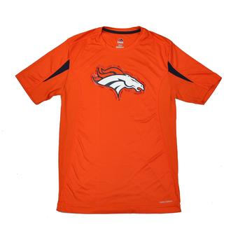 Denver Broncos Majestic Orange Fanfare VII Performance Synthetic Tee Shirt (Adult S)