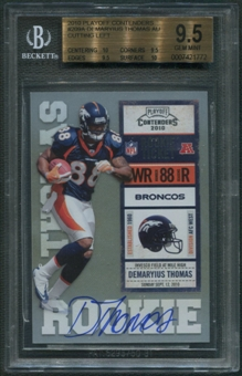 2010 Playoff Contenders #209A Demaryius Thomas Cutting Left Rookie Auto BGS 9.5 (GEM MINT) *1772