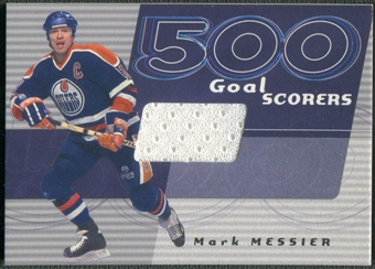 2001/02 BAP Signature Series #25 Mark Messier 500 Goal Scorers Jersey /30