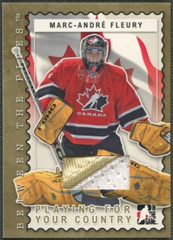 2006/07 Between The Pipes #PC10 Marc-Andre Fleury Playing For Your Country Gold Jersey /10