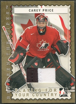2006/07 Between The Pipes #PC11 Carey Price Playing For Your Country Gold Jersey /10