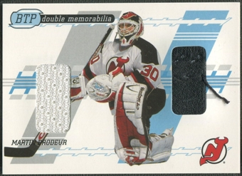 2002/03 Between the Pipes #1 Martin Brodeur Pad Jersey /40