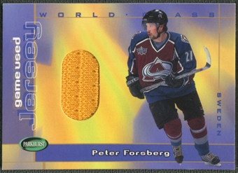 2001/02 Parkhurst #WCJ5 Peter Forsberg World Class Jersey /80
