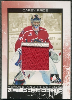 2007/08 ITG Heroes and Prospects #NP01 Carey Price Net Prospects Gold Patch /10