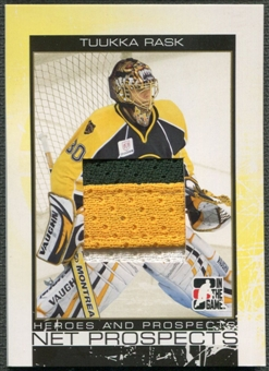 2007/08 ITG Heroes and Prospects #NP12 Tuukka Rask Net Prospects Gold Patch /10