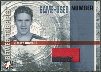 2006/07 Between The Pipes #GUN36 Jimmy Howard Numbers Patch /10